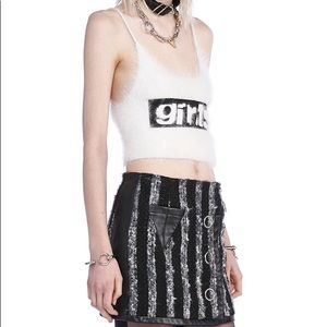 Alexander Wang Angora Blend Crop Top